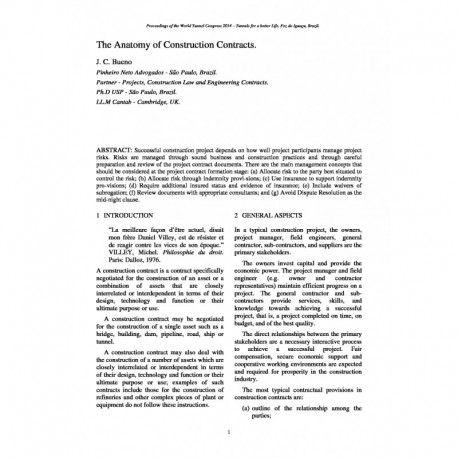 The Anatomy of Construction Contracts