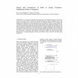Design and Construction of Shaft in Jurong Formation Sedimentary Rocks of Singapore