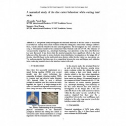 A numerical study of the disc cutter behaviour while cutting hard rocks