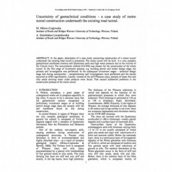 Uncertainty of geotechnical conditions – a case study of metro tunnel construction underneath the existing road tunnel