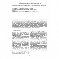 Rock Mass influence on Hard Rock TBM Performance Prediction