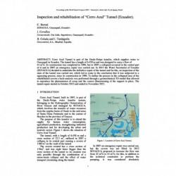 "Inspection and rehabilitation of ""Cerro Azul"" Tunnel (Ecuador)"