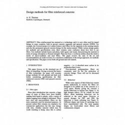 Design methods for fibre reinforced concrete
