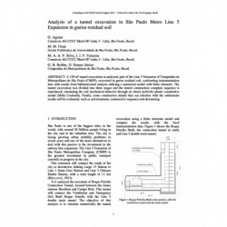 Analysis of a tunnel excavation in São Paulo Metro Line 5 Expansion in gneiss residual soil