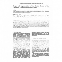Design and Implementation of the Control System of the Operational Ventilation in the Blanka Tunnel