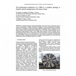 The performance prediction of a TBM in a complex geology in Istanbul and the comparisons with actual values