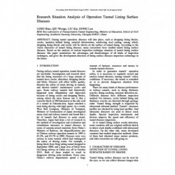 Research Situation Analysis of Operation Tunnel Lining Surface Diseases