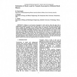 Estimation of Rock Load for Tunnels Excavated in Different Rock Masses