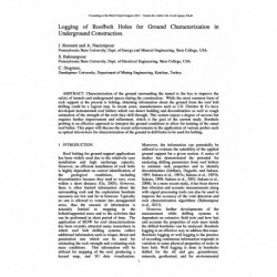 Logging of Roofbolt Holes for Ground Characterization in Underground Construction