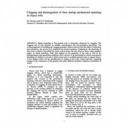 Clogging and disintegration of fines during mechanized tunneling in clayey soils