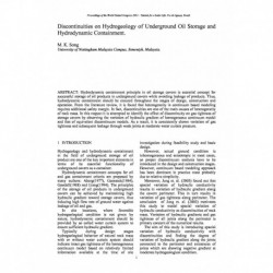 Discontinuities on Hydrogeology of Underground Oil Storage and Hydrodynamic Containment