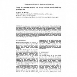 Study on chamber pressure and slurry level of mixed shield by prototype test