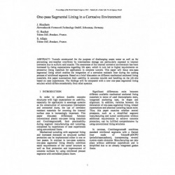 One-pass Segmental Lining in a Corrosive Environment