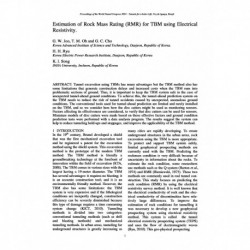 Estimation of Rock Mass Rating (RMR) for TBM using Electrical Resistivity