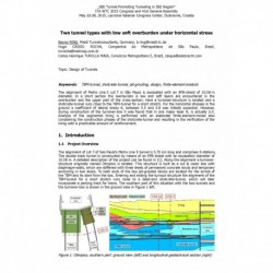 Two tunnel types with low soft overburden under horizontal stress