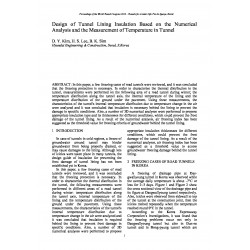 Design of Tunnel Lining Insulation Based on the Numerical Analysis and the Measurement of Temperature in Tunnel
